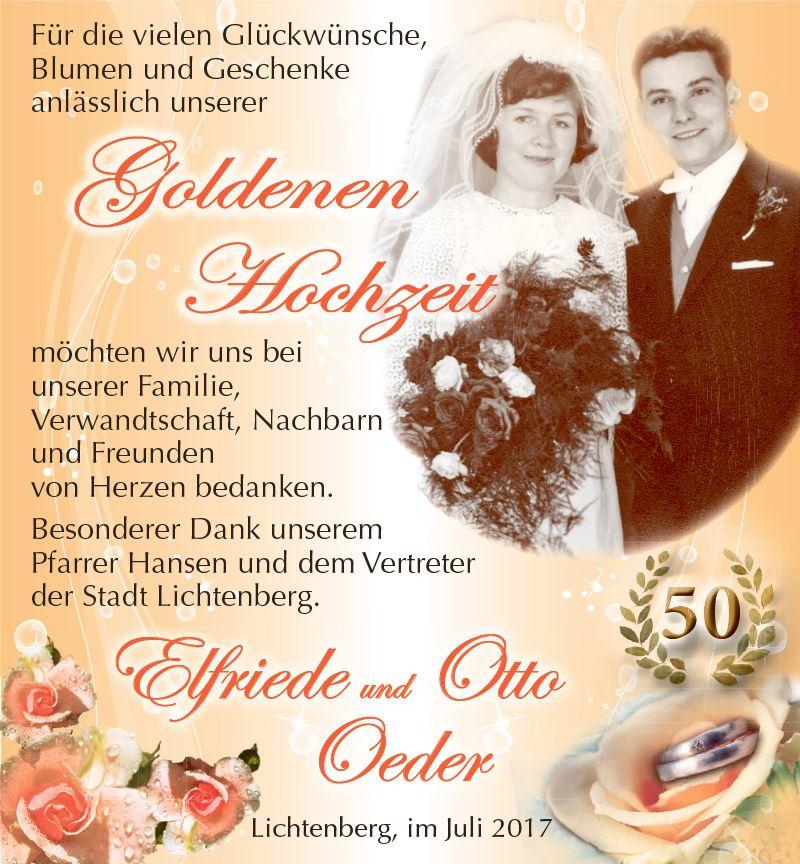 Goldene Hochzeit Von Elfriede Und Otto